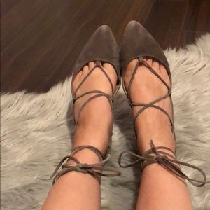 Steve Madden Eleanorr Women Taupe Suede
